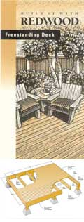 California Redwood Association Free Standing Deck Plan